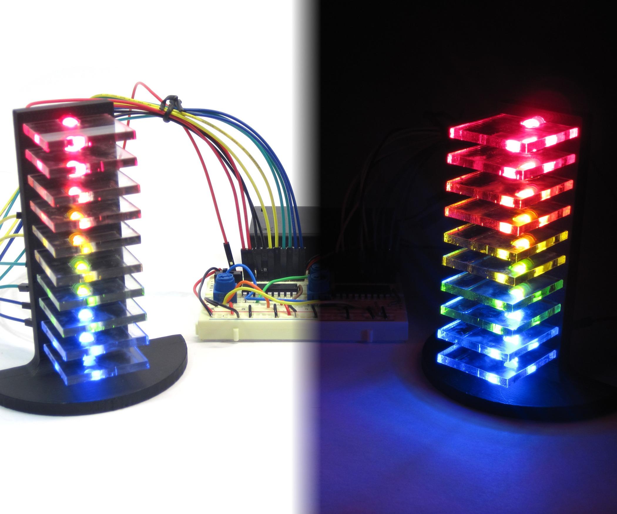 مدار ساخت اکولایزر 12 ال ای دی جدید
